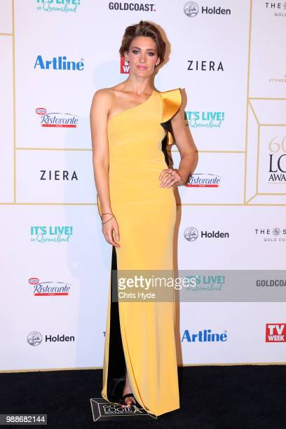 Tess Hausbrich arrives at the 60th Annual Logie Awards at The Star Gold Coast on July 1 2018 in Gold Coast Australia