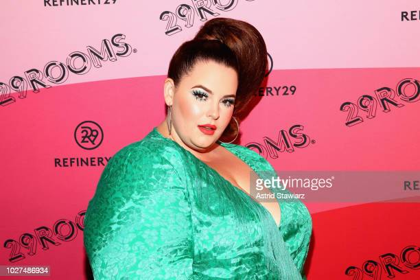 Tess Holliday attends the Expand Your Reality Opening Party on September 5 2018 in Brooklyn City
