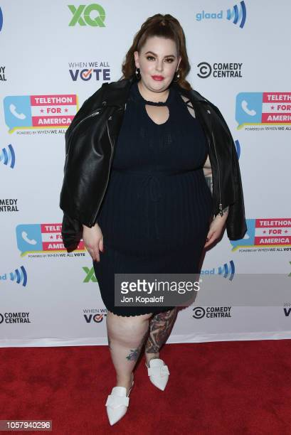 Tess Holliday attends the Telethon For America at YouTube Space LA on November 5 2018 in Los Angeles California
