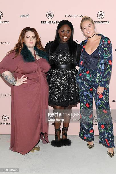 Tess Holliday, Danielle Brooks and Iskra Lawrence attend Refinery29's Every Beautiful Body Symposium at Brookfield Place on October 26, 2016 in New...
