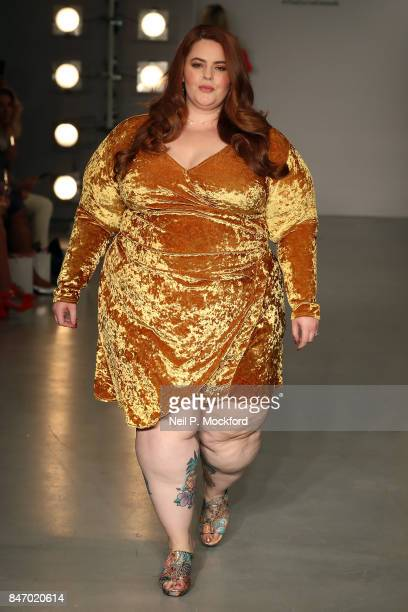Tess Holliday walks the SimplyBe 'Curve Catwalk' during London Fashion Week on September 14 2017 in Soho London England