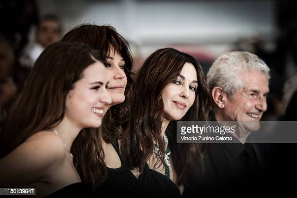 Tess Lauvergne Marianne Denicourt Monica Bellucci Claude Lelouch attend the screening of Les Plus Belles Annees D'Une Vie during the 72nd annual...