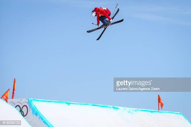 Tess Ledeux competes during the Freestyle Skiing Women's Finals Ski Slopestyle at Pheonix Snow Park on February 17 2018 in Pyeongchanggun South Korea