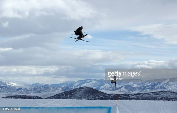 Tess Ledeux of France competes in the qualification round of the Ladies' Ski Big Air at the FIS Freeski World Championships on February 02 2019 at...