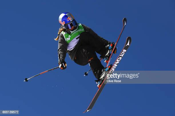 Tess Ledeux of France competes in the Women's Slopestyle final during day twelve of the FIS Freestyle Ski Snowboard World Championships 2017 on March...