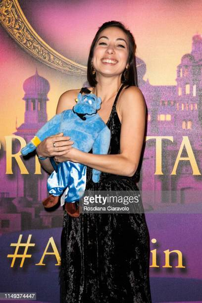 Tess Masazza attends the Aladdin photocall and red carpet at The Space Cinema Odeon on May 15 2019 in Milan Italy