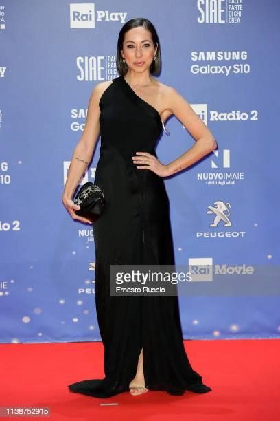 Tess Masazza walks a red carpet ahead of the 64 David Di Donatello awards ceremony Red Carpet on March 27 2019 in Rome Italy