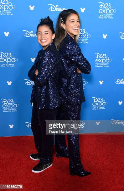 Tess Romero Gina Rodriguez attend D23 Disney showcase at Anaheim Convention Center on August 23 2019 in Anaheim California
