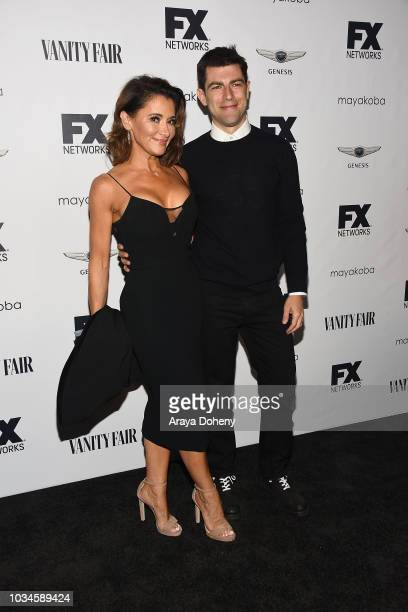 Tess Sanchez and Max Greenfield attend FX Networks celebration of their Emmy nominees at CRAFT LA on September 16 2018 in Los Angeles California
