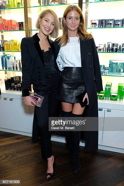 Tess Ward and Millie MacKintosh attend a preview party to unveil leading British Luxury Beauty Retailer Space NKs first concept store Innovation by...