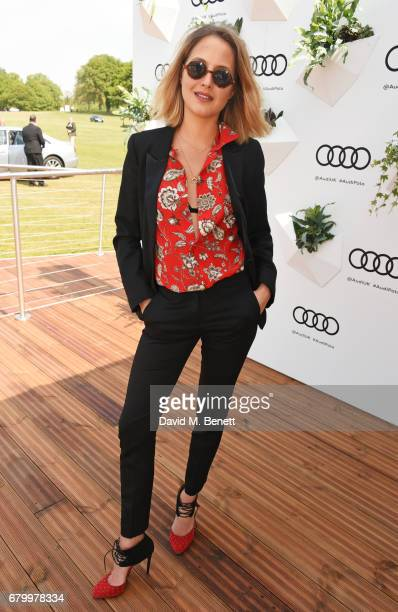 Tess Ward attends the Audi Polo Challenge at Coworth Park on May 7 2017 in Ascot United Kingdom