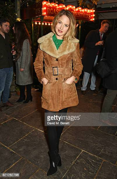 Tess Ward attends The Ivy Chelsea Garden's Guy Fawkes party on November 5 2016 in London England