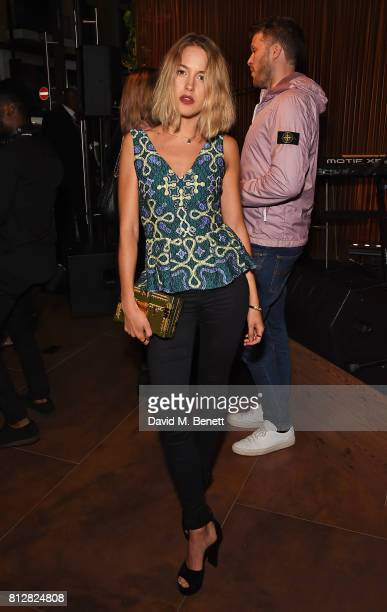 Tess Ward attends the launch of the new Cafe Nespresso Soho on July 11 2017 in London England