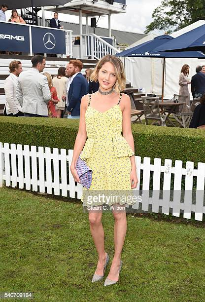 Tess Ward attends the Laureus King Power Polo Cup at Ham Polo Club on June 16 2016 in Richmond England