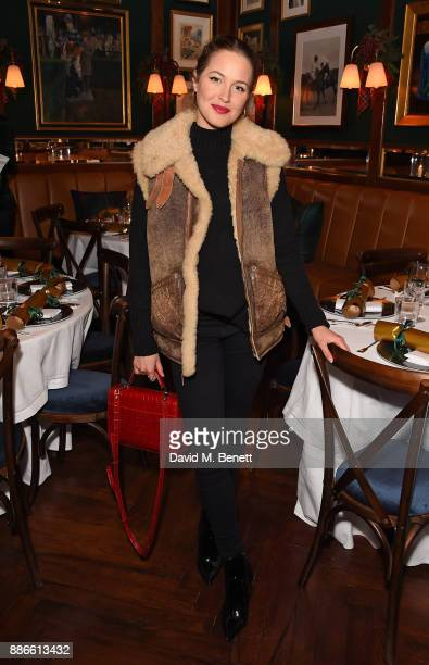 Tess Ward attends the Polo Bear Holiday Dinner hosted by Polo Ralph Lauren and Alexandra Richards at Ralph's Coffee Bar on December 5 2017 in London...