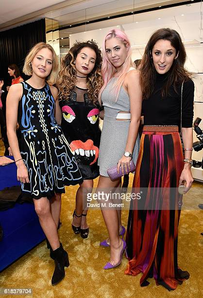 Tess Ward Ella Eyre Amber Le Bon and Rosanna Falconer attend the Giuseppe Zanotti London flagship store launch on October 26 2016 in London England