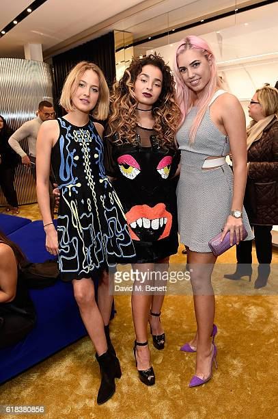Tess Ward Ella Eyre and Amber Le Bon attend the Giuseppe Zanotti London flagship store launch on October 26 2016 in London England