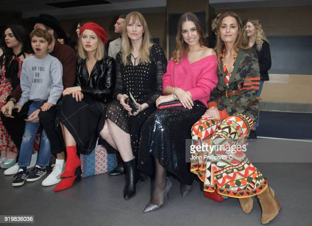 Tess Ward Jade Parfitt Amber Le Bon and Yasmin Le Bon attend the Temperley London show during London Fashion Week February 2018 at on February 18...