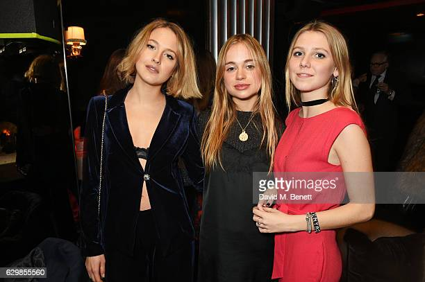 Tess Ward Lady Amelia Windsor and guest attend a reception in honour of 'La La Land' with Damien Chazelle Emma Stone and Justin Hurwitz at The Arts...