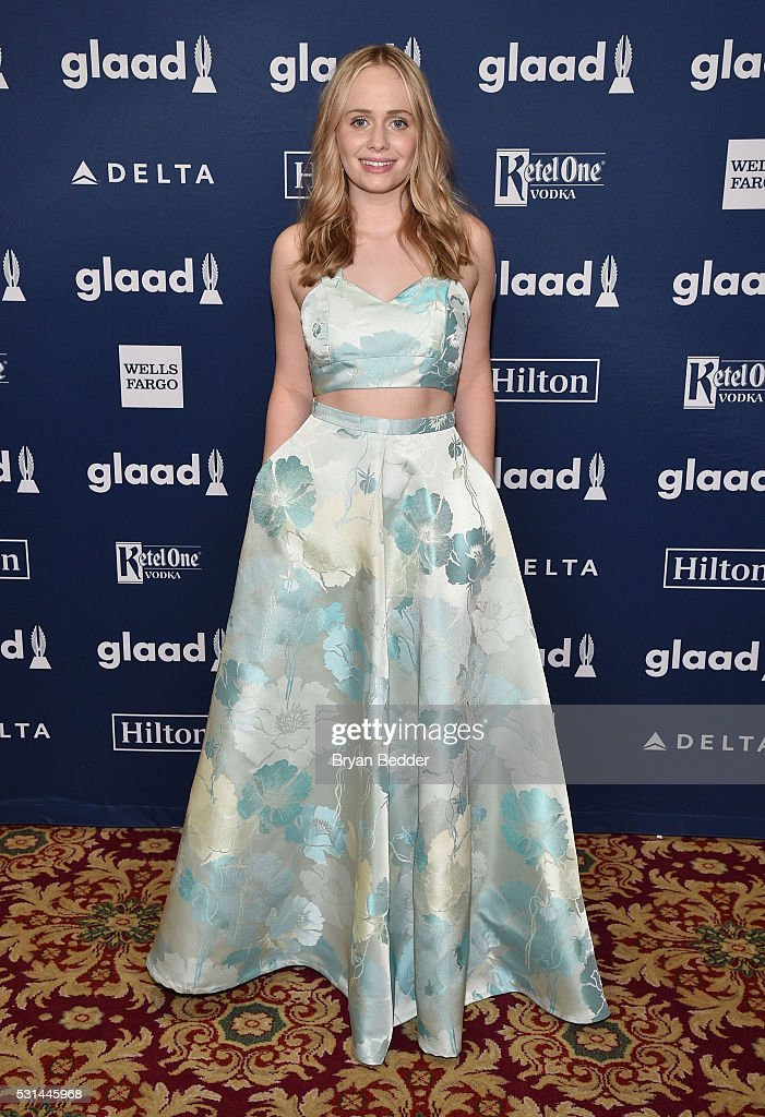 Tessa Albertson attends the 27th Annual GLAAD Media Awards in New York on May 14, 2016 in New York City.