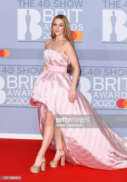 Tessa Bear attends The BRIT Awards 2020 at The O2 Arena on February 18 2020 in London England