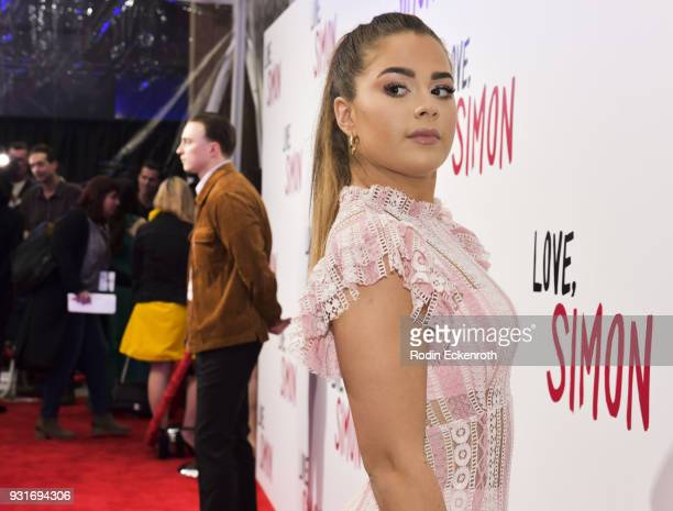 Tessa Brooks attends a special screening of 20th Century Fox's 'Love Simon' at Westfield Century City on March 13 2018 in Los Angeles California