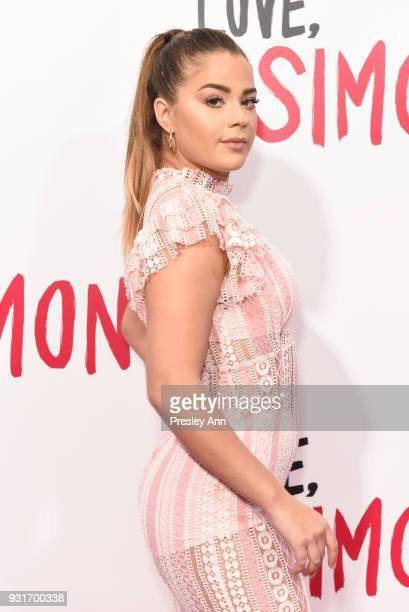 Tessa Brooks attends Special Screening Of 20th Century Fox's 'Love Simon' Arrivals at Westfield Century City on March 13 2018 in Century City...