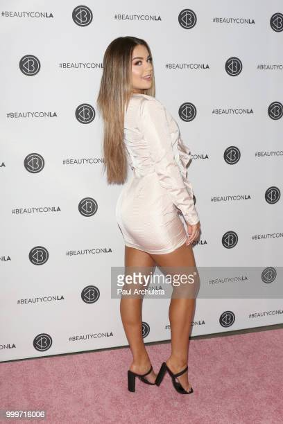 Tessa Brooks attends the Beautycon Festival LA 2018 at the Los Angeles Convention Center on July 15 2018 in Los Angeles California