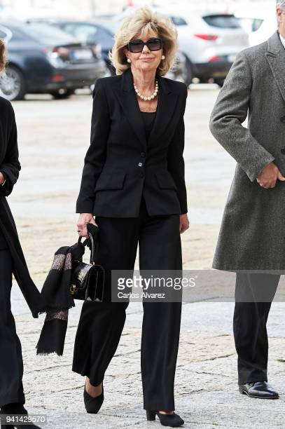 Tessa De Baviera attends a Mass in occasion of the 25th anniversary of death of Conde de Barcelona father of King Juan Carlos at San Lorenzo del...