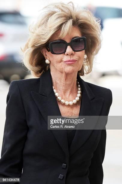 Tessa De Baviera attends a Mass in occasion of the 25th anniversary of death of Conde de Barcelona father of King Juan Carlos at San Lorenzo del...