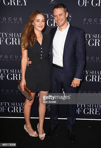 Tessa Dorman and Michael Dorman arrive at the Fifty Shades of Grey screening at the Entertainment Quarter on February 11 2015 in Sydney Australia