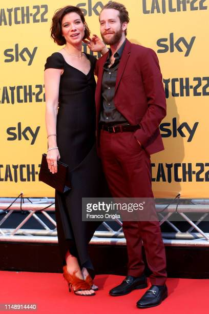 Tessa Ferrer and guest attend 'Catch-22' Photocall, a Sky production, at The Space Moderno Cinema on May 13, 2019 in Rome, Italy.