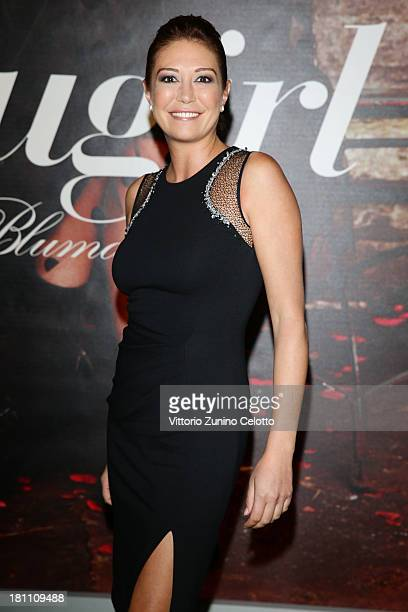 Tessa Gelisio attends the Blugirl show as a part of Milan Fashion Week Womenswear Spring/Summer 2014 on September 19 2013 in Milan Italy