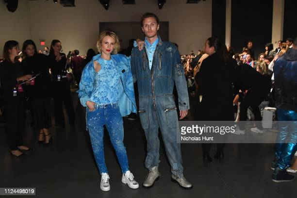Tessa Grafin von Walderdorff and Barron Hilton II attend the John John front row during New York Fashion Week: The Shows at Gallery I at Spring...