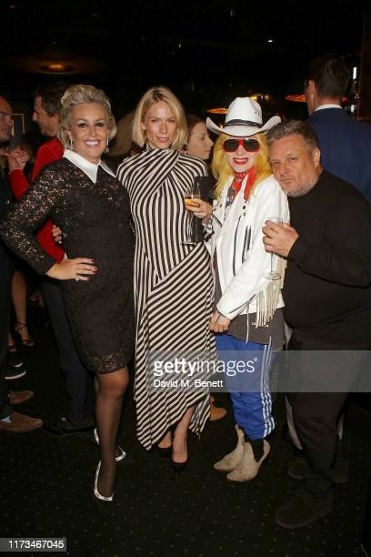 Tessa Hartmann Tuuli Shipster Pam Hogg and Rankin attend Tessa Hartmann's Surprise 50th Birthday Party at Tramp on October 03 2019 in London England