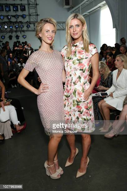 Tessa Hilton ad Nicky HiltonRothschild attend the Pamella Roland fashion show during New York Fashion Week at Pier 59 on September 6 2018 in New York...