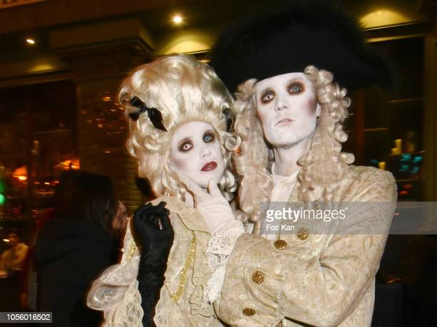 Tessa Hilton and Barron Hilton attend the Bal Des Vampires Hosted by Le Bal des Princesses At The Pachmama Club on October 31, 2018 in Paris, France.