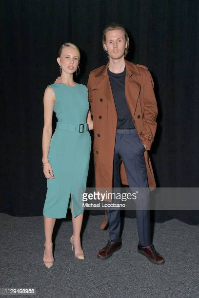 Tessa Hilton and Barron Hilton attend the BOSS Womenswear and Menswear fashion show during New York Fashion Week on February 13, 2019 in New York...