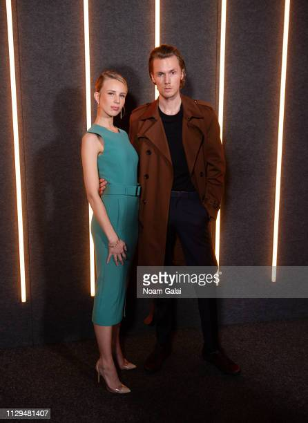 Tessa Hilton and Barron Hilton attend the BOSS Womenswear & Menswear fashion show during New York Fashion Week on February 13, 2019 in New York City.