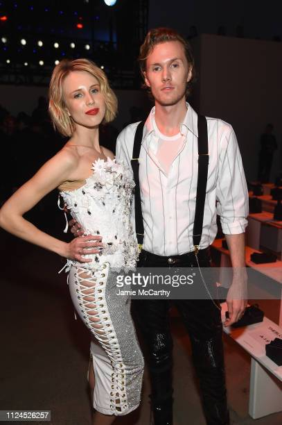 Tessa Hilton and Barron Hilton attend the The Blonds front row during New York Fashion Week: The Shows at Gallery I at Spring Studios on February 12,...