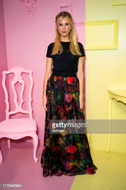 Tessa Hilton attends the Alice Olivia by Stacey Bendet presentation during New York Fashion Week The Shows at Root Studio on September 09 2019 in New...