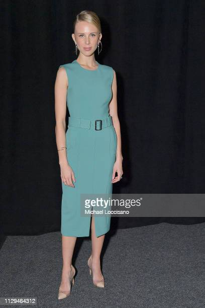 Tessa Hilton attends the BOSS Womenswear and Menswear fashion show during New York Fashion Week on February 13, 2019 in New York City.