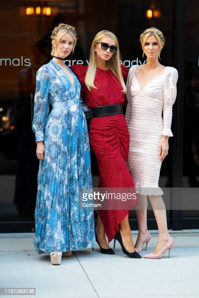 Tessa Hilton, Paris Hilton and Nicky Hilton attend 2019 Animal Haven Benefit at Tribeca 360 on May 22, 2019 in New York City.