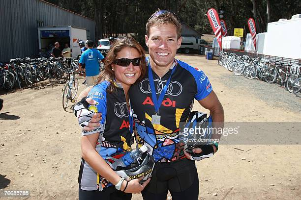 Tessa Horst and Andy Baldwin at the Audi Best Buddies Challenge Day 2 on September 8 2007 in San Simeon California