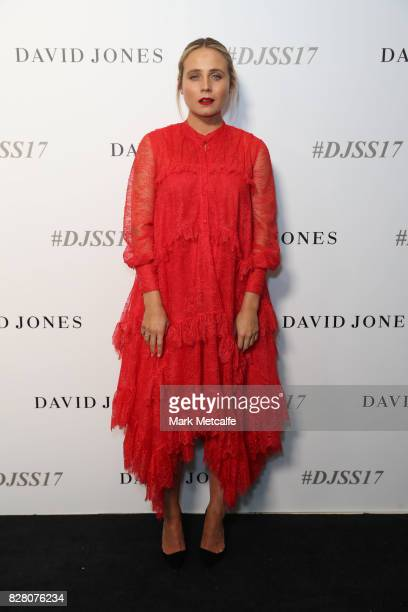 Tessa James arrives ahead of the David Jones Spring Summer 2017 Collections Launch at David Jones Elizabeth Street Store on August 9 2017 in Sydney...