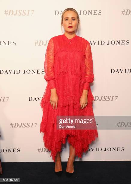 Tessa James arrives ahead of the David Jones Spring Summer 2017 Collections Launch at David Jones Elizabeth Street Store on August 9 2017 in Sydney...