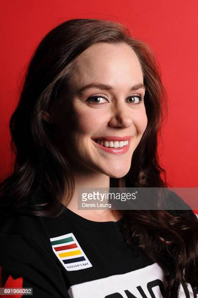 Tessa Jane McCormick Virtue poses for a portrait during the Canadian Olympic Committee Portrait Shoot on June 3 2017 in Calgary Alberta Canada
