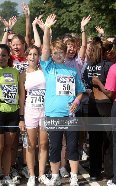 Tessa Jowell and contestants during 5K Hydro Active Women's Challenge London Photocall at Hyde Park in London Great Britain