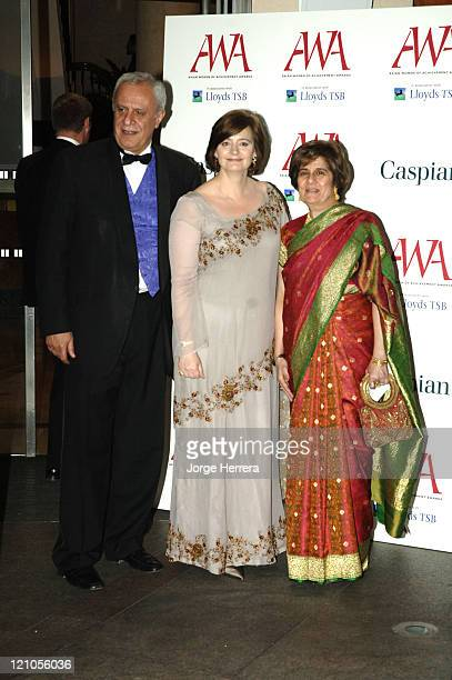 Tessa Jowell Cherie Blaire and Keith Vass during The Asian Women of Achievement Awards – Arrivals at London Hilton on Park Lane in London Great...