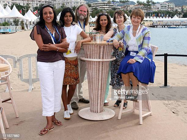 Tessa Jowell during 2006 Cannes Film Festival Tessa Jowell Talks To The British Film Council at Plage de Palm in Cannes France